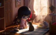 Yozora and her Kitties