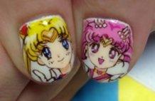 Sailor moon.USAGI&CHIBIUSA. ITA-nail.