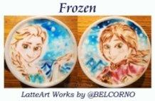 """LatteArt of """"Frozen"""""""