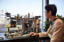 Fantasy Captured in Plastic Model: A Desk Diorama