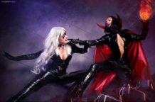 Black Cat vs Satana