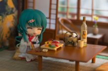 Enjoying her meal at the Ryokan
