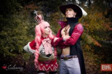 Perona and Mihawk (One Piece) Cosplay by Calssara and Elffi