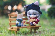 Wo-Chan Eating Taiyaki with Chi