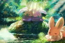 Goomy and Eevee