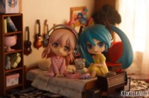 Pajama Night: Miku x Super Sonico