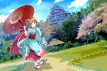 Japanese Umbrella Girl