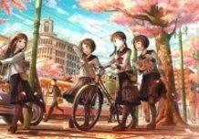 Anime High School Girls In London