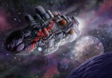 Dangerous cargo spaceship
