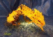 Chenille wire art § Queen of the Land Gold Rathian! Rioreia Rare Species §