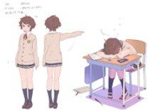 """character design""""japanese school girl"""""""