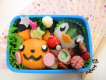 Pikachu and Piplup Bento