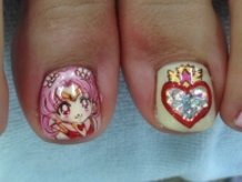 Sailor moon.CHIBIUSA. ITA-nail.