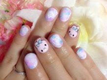 My Melody's Stuffed Rabbit Nail Art♪