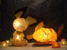 Napping★Gizamimi Pichu and Sleeping☆Pikachu Lamp Shades