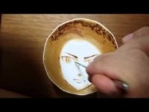 """Today's Leisure Time Cappuccino, """"Eren @Attack on Titan"""""""