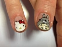 kitty&totoro, ITA-nail