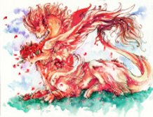Roses dragon