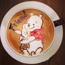 latte art~pooh~