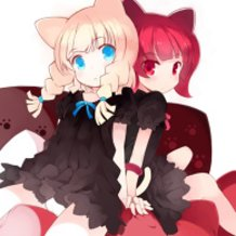 Red & White Cat Ears