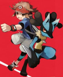 Main character with Lucario