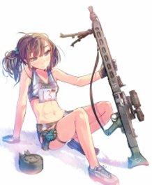 Armed Female High School Student