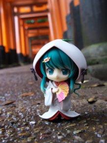 In Fushimi-Inari Taisha Shrine.