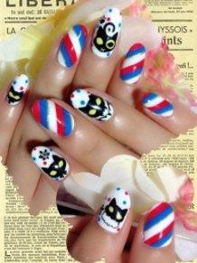 Sakura Wars Pari Hanagumi Black Cat Nails ♪