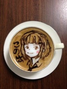 latte art ~a girl~