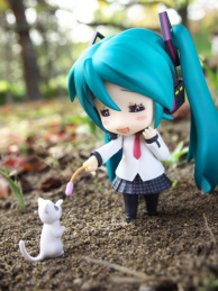 A cat and Miku