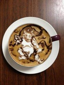 latte art~japanese god~