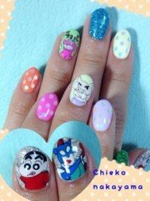 Crayon Shin-chan Nails