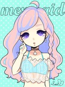 Pastel Goth Mermaid