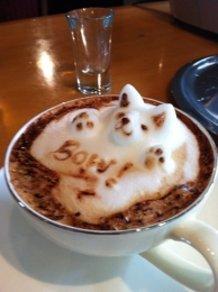 3D-latte art ~Bow!!!~