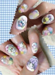 Creamy Mami-chan Nails!!