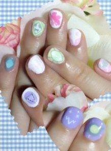 Pastel Evangelion Angel Nails!