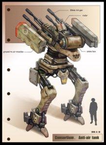 Bipedal Anti-Aircraft Gun