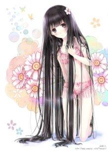Looooong, straight, black hair with straight bangs : part2