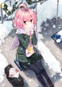 At the park in winter