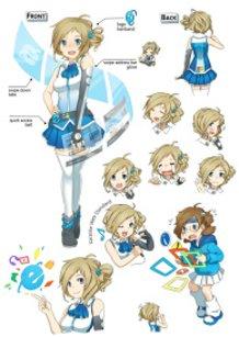 Character Design - Aizawa Inori