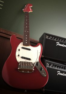 "Fender Mustang ""Azusa Nakano"" model"