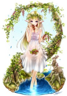The Elf Girl and Redcurrants