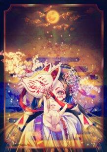 Sakura Exhibition 2015 [White Fox on a Moonlit Night]
