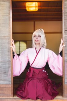 Okita Souji (Fate Grand Order) Cosplay by Calssara