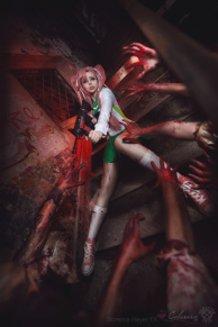 Saya Takagi (Highschool of the Dead) Cosplay by Calssara