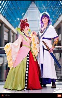 Kougyoku Ren & Sinbad (Magi) by Calssara and Elffi
