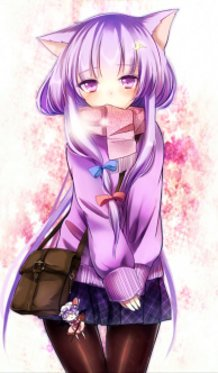 Patchouli-chan Wearing a School Uniform and Fox Ears!