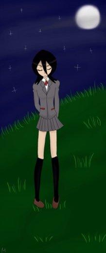 my amateur art of Rukia Kuchiki