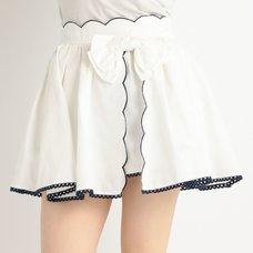LIZ LISA Dungaree Scallop Short Pants