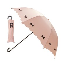 pink trick Colorful Ribbon Collapsible Umbrella (Rain/UV Protective)